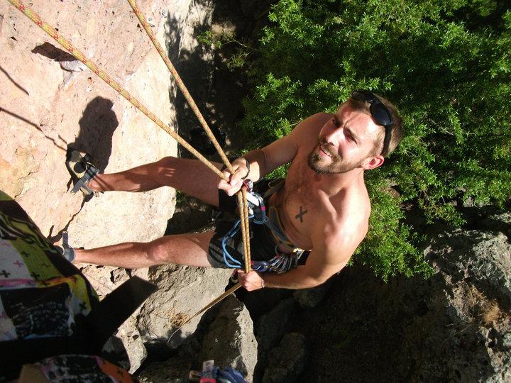 ISLA Volunteer, Tyler Erwin, Rock Climbing