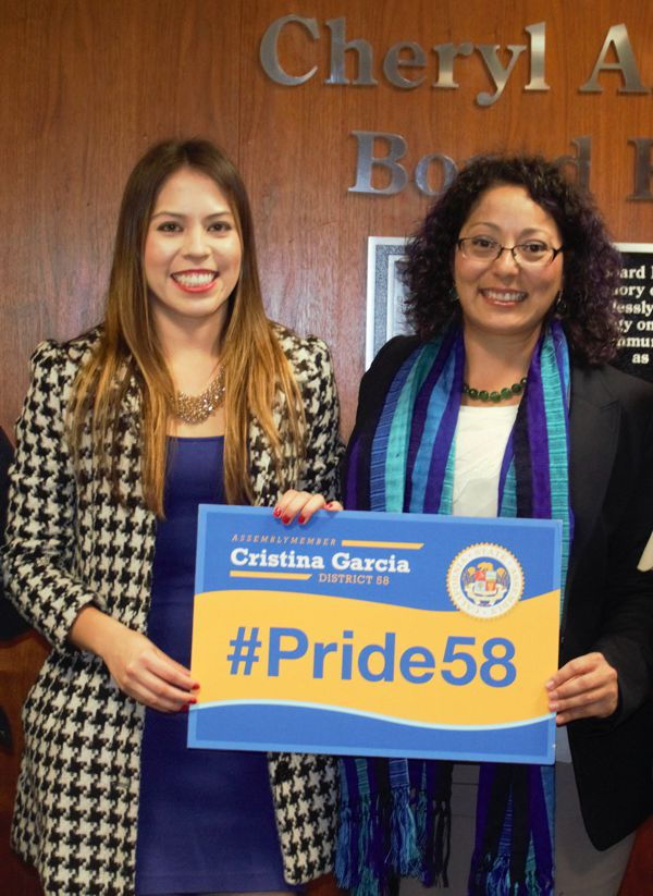 Raquel Lizarraga and Assembly Member, Cristina Garcia