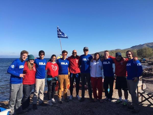 ISLA Team 3: lifeguards from Denmark, UK, Switzerland, and USA.