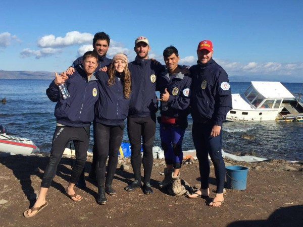 ISLA team 1: lifeguards from Canada, UK and the USA.